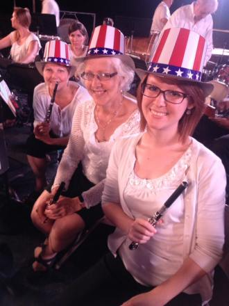 """May 2016 MSO flute section after our final """"Stars and Stripes"""" of the 2015-2016 season"""