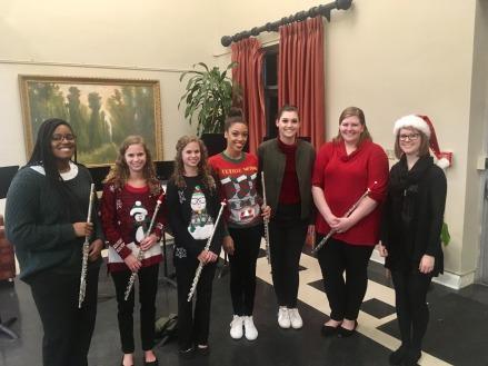 Flute Caroling 2018 with Mississippi College Flute Ensemble