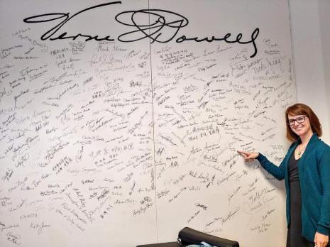 Signed the wall at VQ Powell Flutes